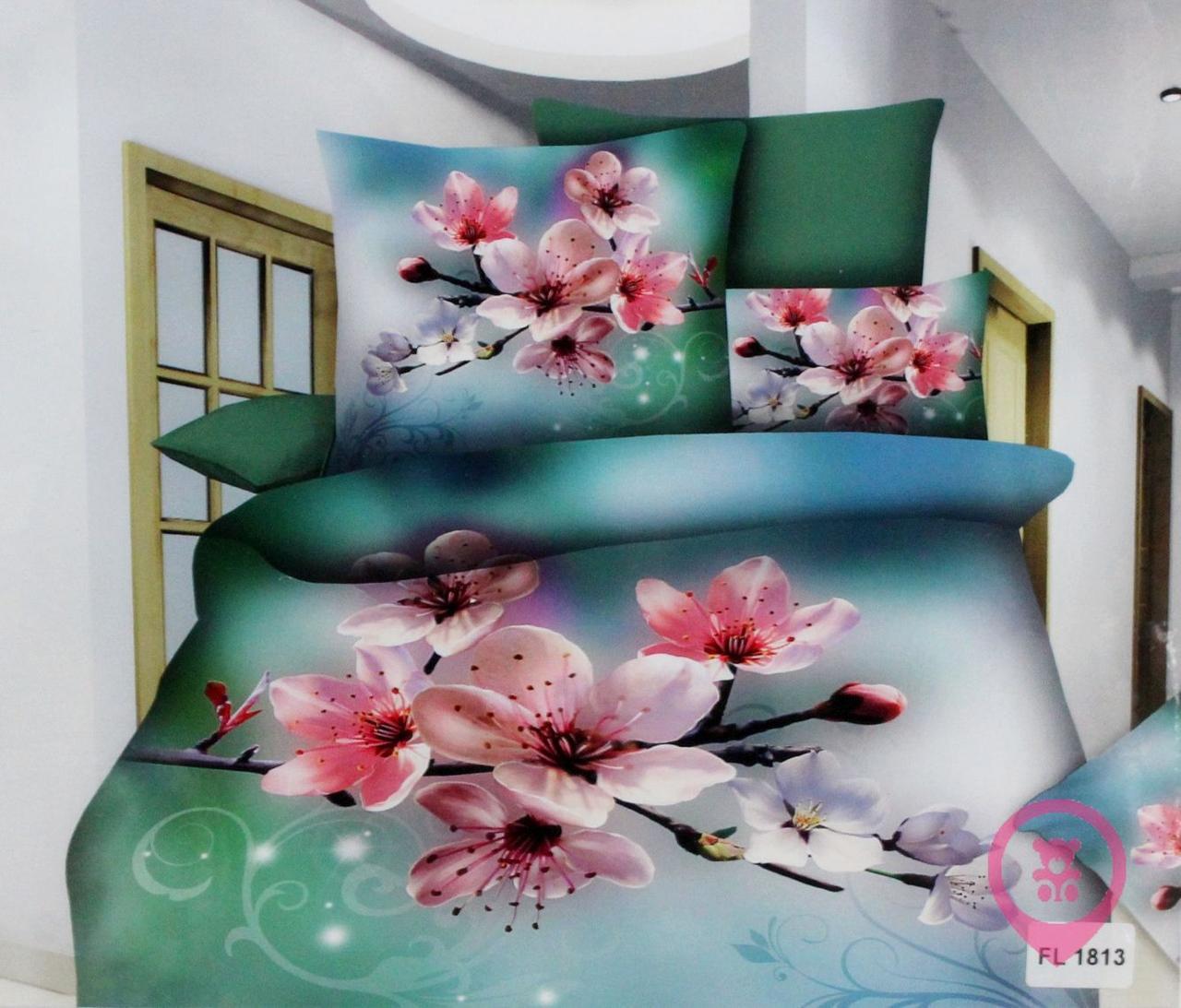 Комплект постельного белья Florida 5D Sateen FL-1813 200x220 Евро размер