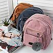 Рюкзак женский мини сумка трансформер маленький замшевый бартахный вельветовый коричневый песочный, фото 10