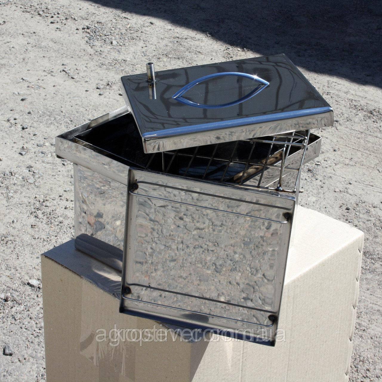 Коптильня из нержавеющей стали (300х300х200)