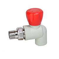 Кран шаровый угловой PPR с НР 20 100/10 GRE Aqua Pipe