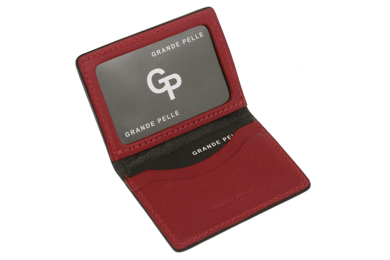 Кожаная Обложка на права, тех паспорт, удостоверение Grande Pelle 21111060 черная