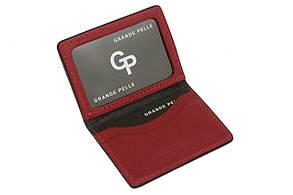 Кожаная Обложка на права, тех паспорт, удостоверение Grande Pelle 21111060 черная, фото 2