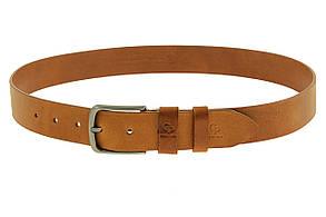Кожаный ремень Classico, коньяк, фото 2