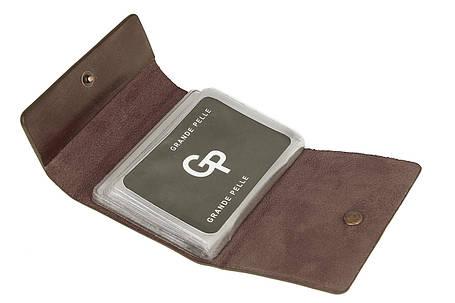 Визитница на 24 карты, матовый, коричневый, фото 2