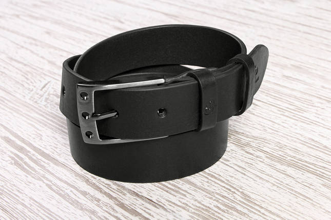 Кожаный ремень Finestre, черный, фото 2