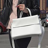 """Стильная женская повседневная сумка белая """"Сильвия White"""", фото 1"""