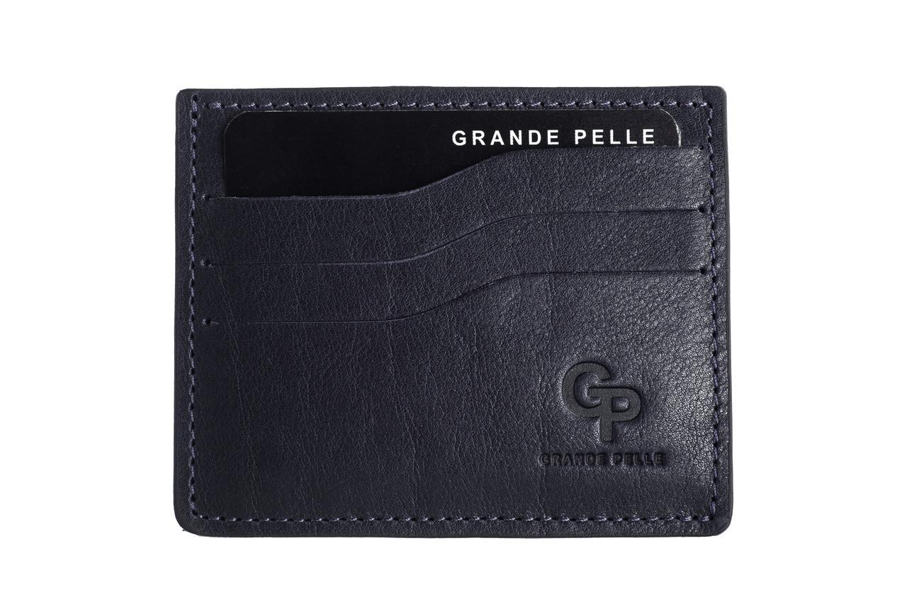 Кожаный кард-кейс Grande Pelle CardCase 305670 синий