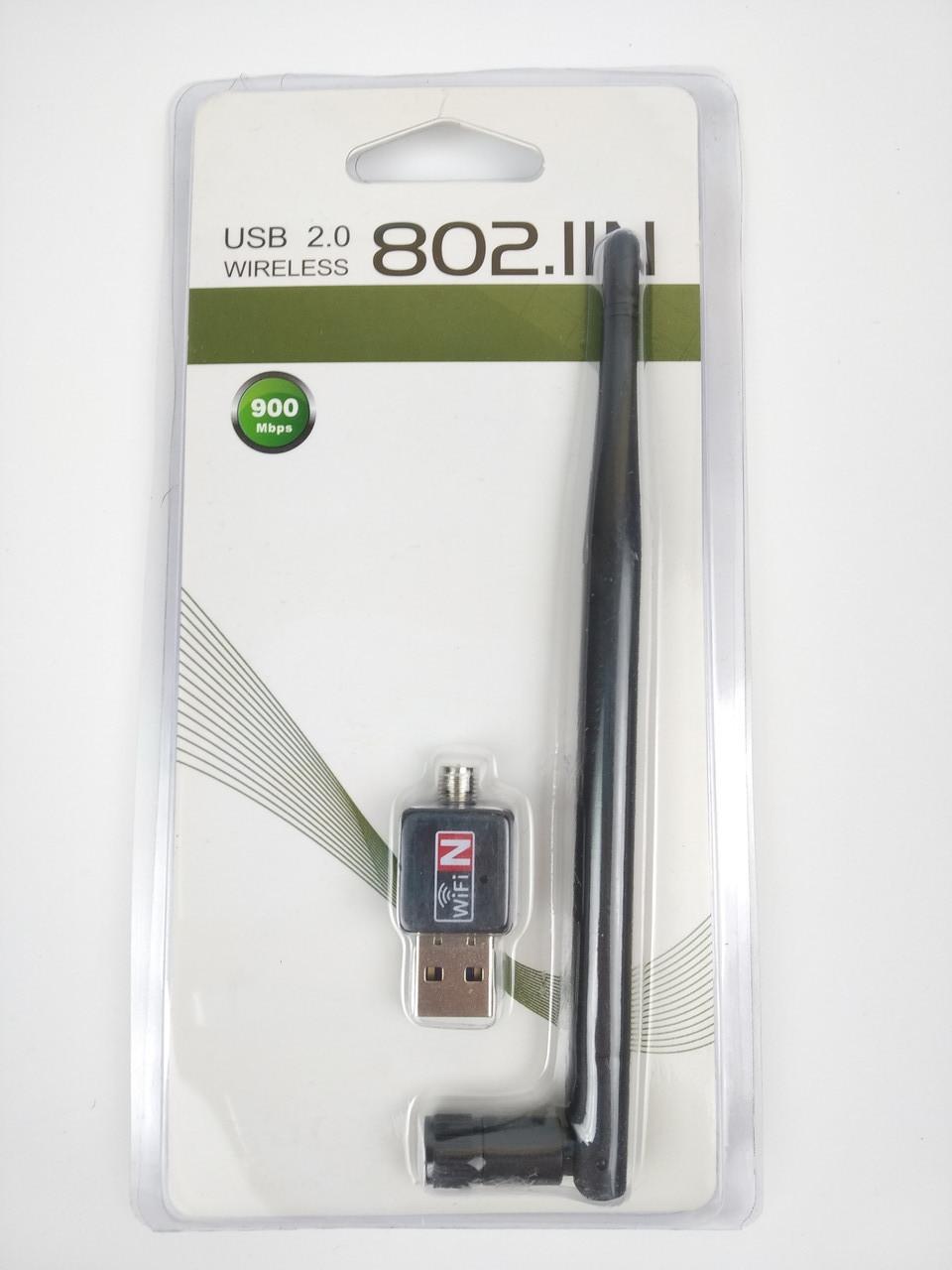 Скоростной wi-fi адаптер WF-2 900 Mb USB 2.0- 802.1IN