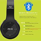 Беcпроводные наушники P47 Bluetooth, MP3, FM, Microphone, фото 7
