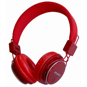 Беспроводные наушники Atlanfa AT-7611 Bluetooth, MP3, FM, Microphone красные