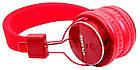 Беспроводные наушники Atlanfa AT-7611 Bluetooth, MP3, FM, Microphone красные, фото 5
