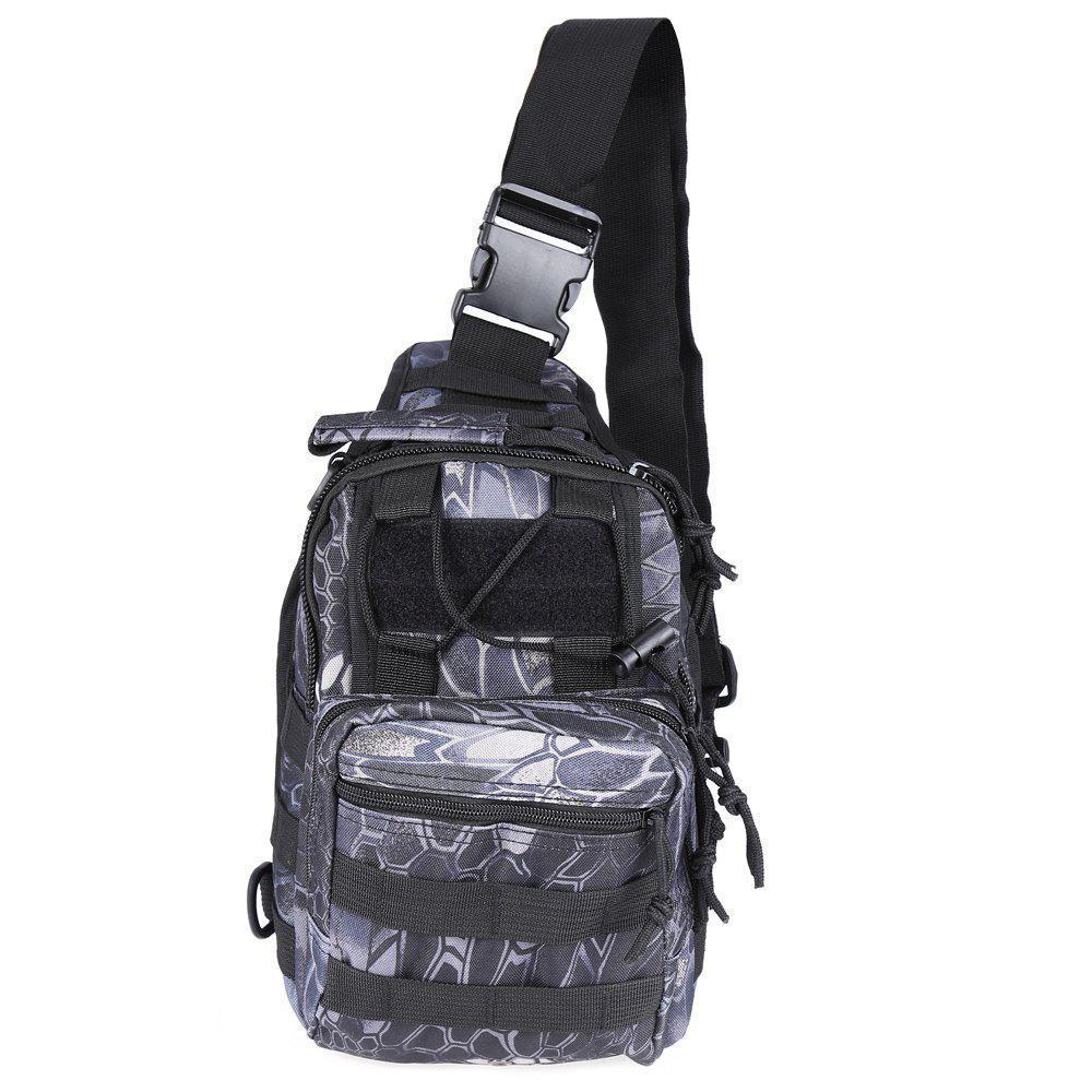Тактическая военная сумка-рюкзак OXFORD 600D Черно-серая (gr006878)