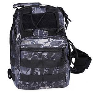 Тактическая военная сумка-рюкзак OXFORD 600D Черно-серая (gr006878), фото 2