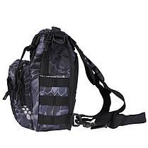 Тактическая военная сумка-рюкзак OXFORD 600D Черно-серая (gr006878), фото 3