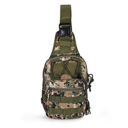 Тактическая военная сумка-рюкзак OXFORD 600D Светло-зеленый (gr006883), фото 2