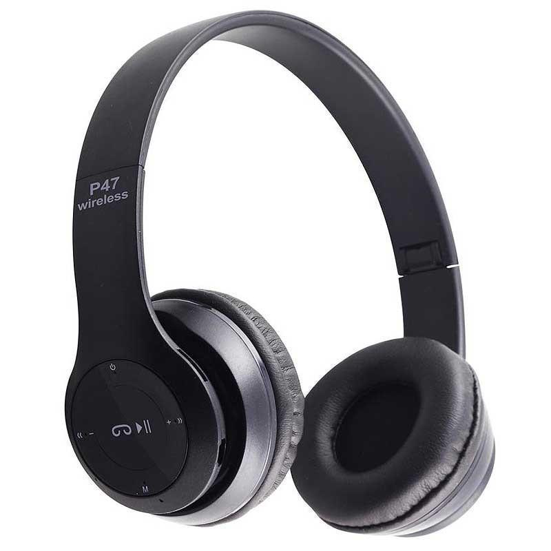 Беcпроводные наушники P47 Bluetooth, MP3, FM, Microphone черные