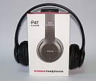 Беcпроводные наушники P47 Bluetooth, MP3, FM, Microphone черные, фото 7