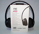 Беcпроводные наушники P47 Bluetooth, MP3, FM, Microphone черные, фото 8