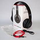 Беcпроводные наушники P47 Bluetooth, MP3, FM, Microphone черные, фото 9