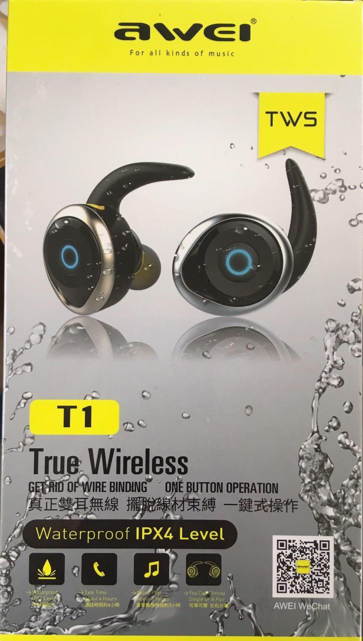Наушники беспроводные Awei T1 BT Bluetooth