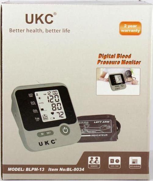 Автоматический тонометр UKC BLPM-13 для измерения давления и пульса
