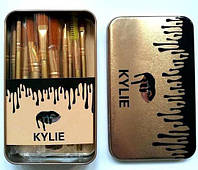 Набор кистей для макияжа Kylie в контейнере кисточки 12 шт