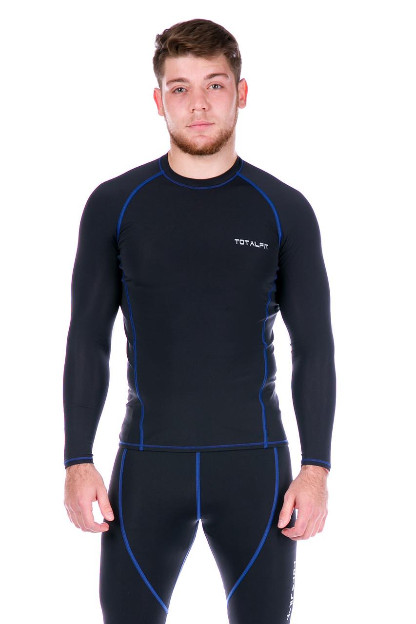Рашгард мужской Totalfit RM4-Y75 4XL Черный, Синий
