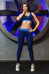 Лосини для спорту Totalfit S11-C7/5 M Темно-синій з блакитним