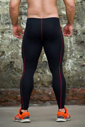 Тайтсы мужские черные с красной строчкой Totalfit G7-Y74 XXL черный, фото 2