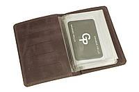 Кожаная обложка для автодокументов и паспорта Grande Pelle 202120 шоколад матовая