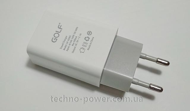 Сетевое зарядное USB устройство/сетевой адаптер Golf GF-U206S