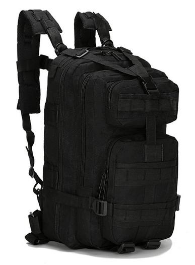 Неубиваемый тактический рюкзак на 25л, штурмовой военный туристический ForTactic Черный
