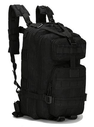 Неубиваемый тактический рюкзак на 25л, штурмовой военный туристический ForTactic Черный, фото 2