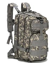 Неубиваемый тактический рюкзак на 25л, штурмовой военный туристический ForTactic Черный, фото 3