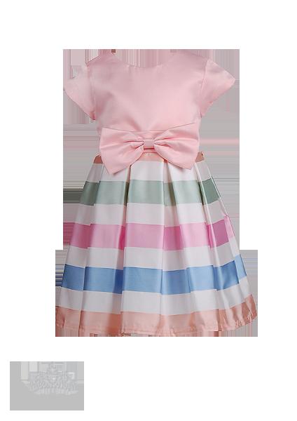 Детское нарядное платье  с разноцветной юбкой