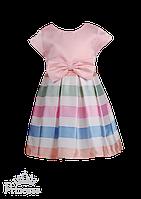 Детское нарядное платье  с разноцветной юбкой, фото 1