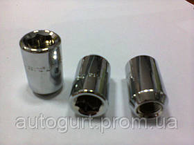 Гайка колеса G 3205 (JN-302-2) 12x1.25,10 L33 RH тит./хром (внутр. ключ)