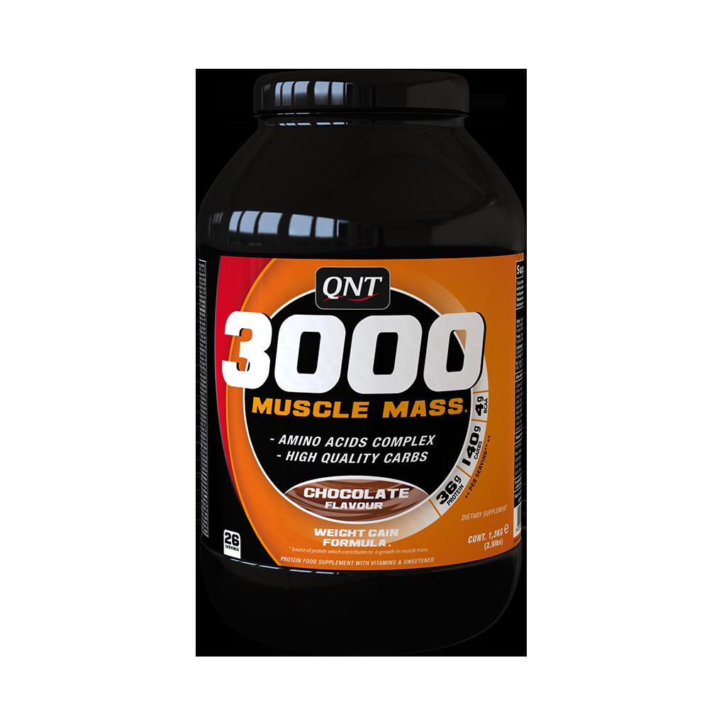 QNT_3000 Muscle Mass 1,3 кг - Chocolate