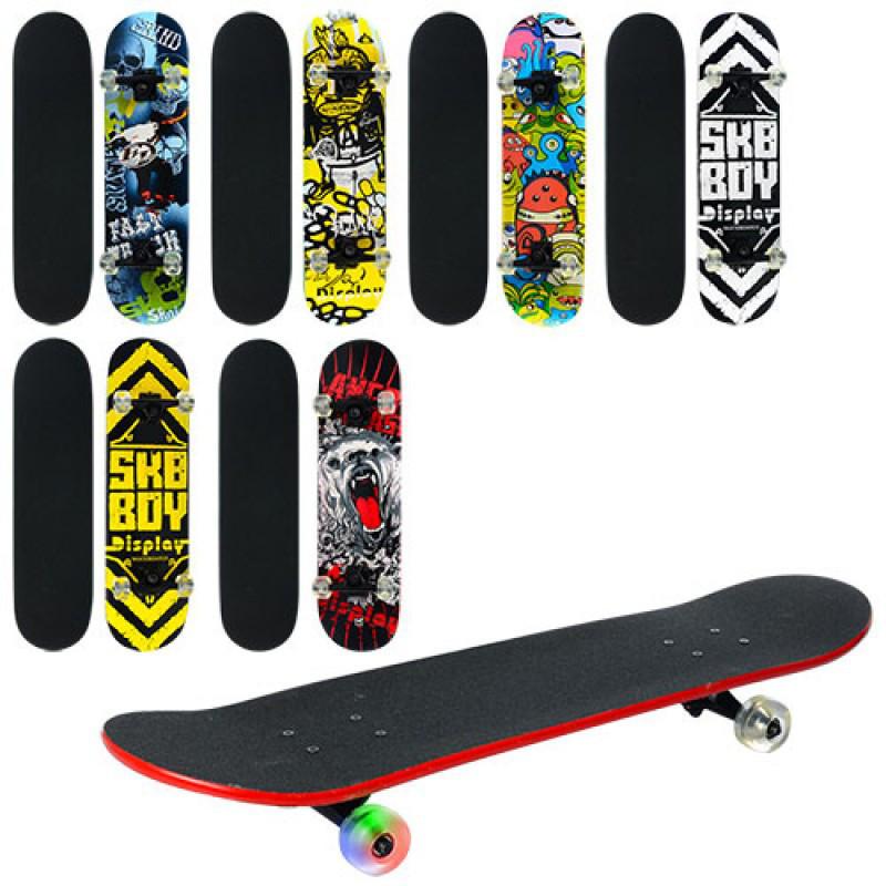 Скейт дерев'яний з дуба металева підвіска MS 0355