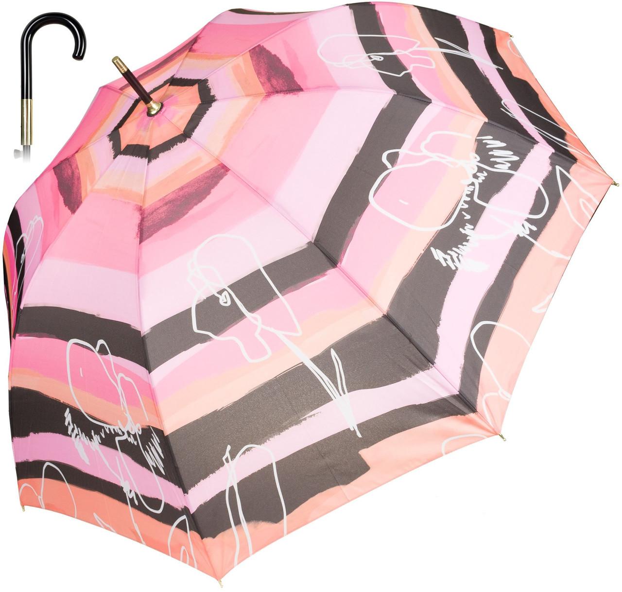 Зонт трость полуавтомат PERLETTI Outline/striped 16236;0220