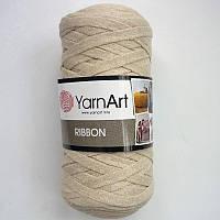 Турецкая пряжа для вязания YarnArt   Ribbon ( риббон )  ковриков , корзин   - 753 беж