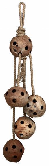 Игрушка для птиц, кокосы 72см.
