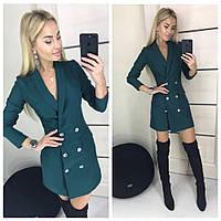 """женское платье пиджак  (жіноча сукня ) """"Билли"""" 3 цвета, фото 1"""