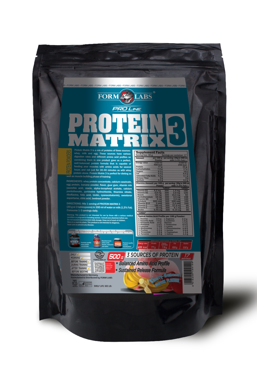 FL Protein Matrix 3 500g - вишня-банан