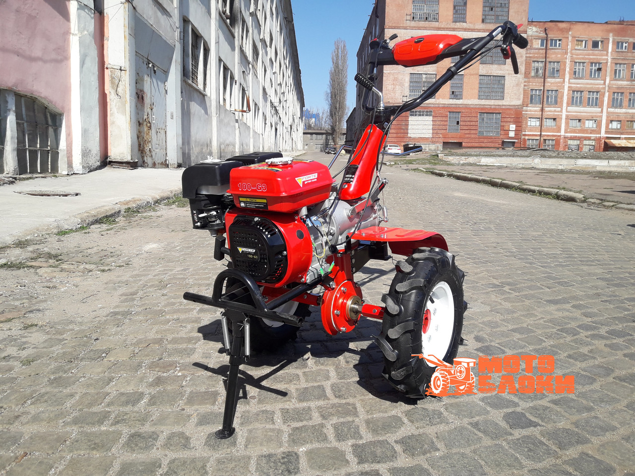 """Культиватор бензиновый Forte 100-G3 колёса 8"""""""