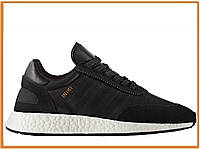 Мужские кроссовки Adidas Iniki Runner Boost Core Black (адидас иники, черные)