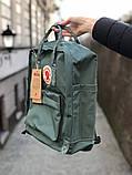 Рюкзак Fjallraven Kanken Classic, рюкзак Канкен, голубой портфель канкен, фото 3