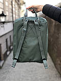 Рюкзак Fjallraven Kanken Classic, рюкзак Канкен, голубой портфель канкен, фото 4