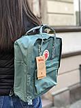 Рюкзак Fjallraven Kanken Classic, рюкзак Канкен, голубой портфель канкен, фото 2