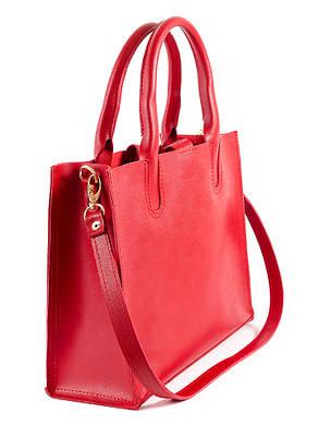 Кожаная сумка красная Sollo 6761-11, фото 2